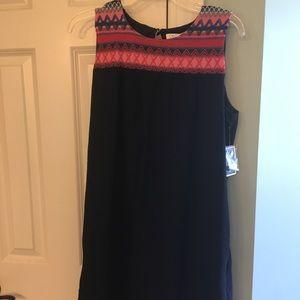 C&C California Black Shift Dress, Size Medium